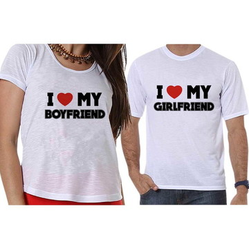 Camisetas Casal I Love My Boy/Girlfriend