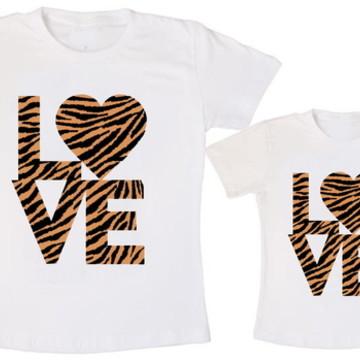 Camiseta Tal Mãe Tal Filha Love Onça