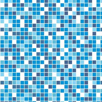Papel de Parede Pastilha Azul e Branca