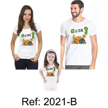 kit 3 Camisetas Jacarevis Aniversario