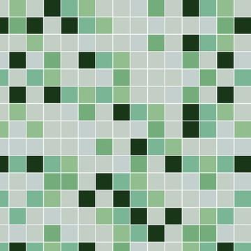 Papel de Parede Pastilha Escala Verde