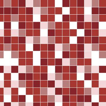 Papel de Parede pastilha Vermelha Branca