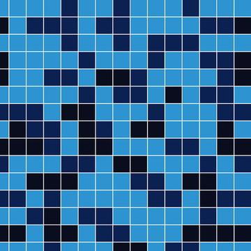 Papel de Parede Pastilha Azul Mesclado