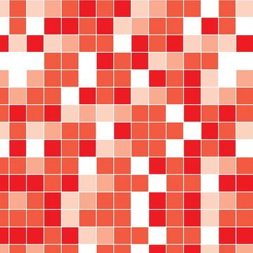 Papel de Parede Pastilha Vermelha Banhe