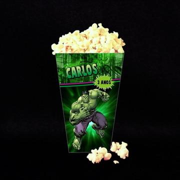 Caixa p/ Pipocas Hulk