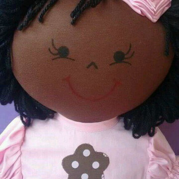 Boneca negra personalizada 60 cm
