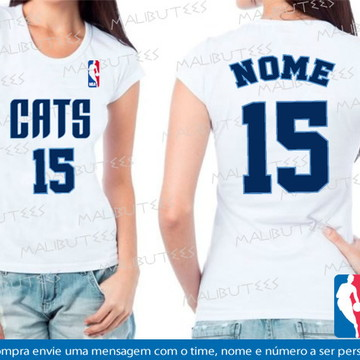 baby look feminina basquete cats
