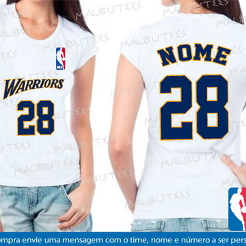 baby look feminina basquete warriors