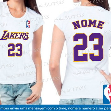 baby look feminina basquete lakers