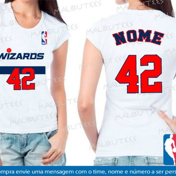 baby look feminina basquete wizards