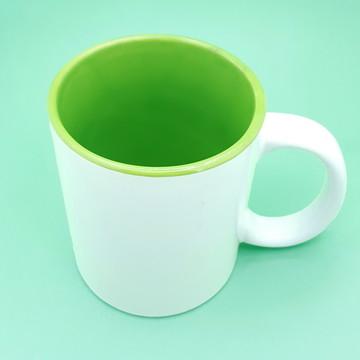 Caneca Com Interior Verde Personalizada