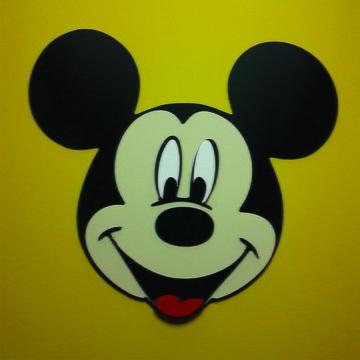 Quadro Mickey em alto relevo