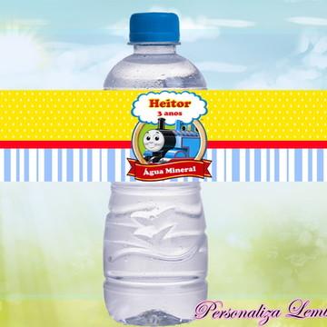 Rótulo água mineral Thomas e seus amigos