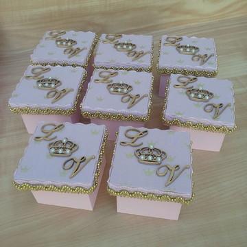 Caixinha Coroa Dourada Princesa