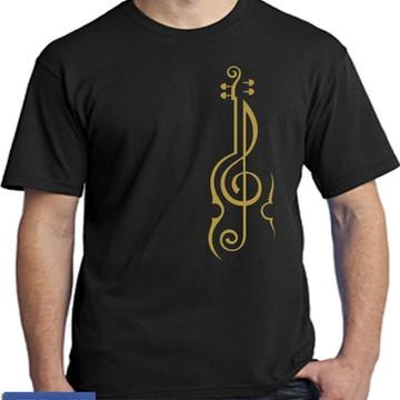 2466- camisetas musica violino