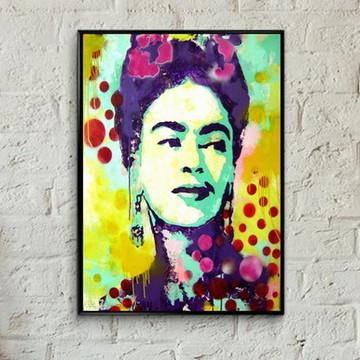 Quadro pop art Frida Kahlo