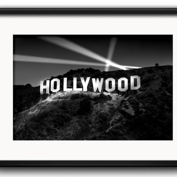 Quadro Hollywood Preto Branco Paspatur