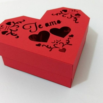 Arquivo de corte Caixa coração