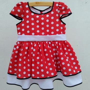 Vestido Fantasia Minnie Vermelho
