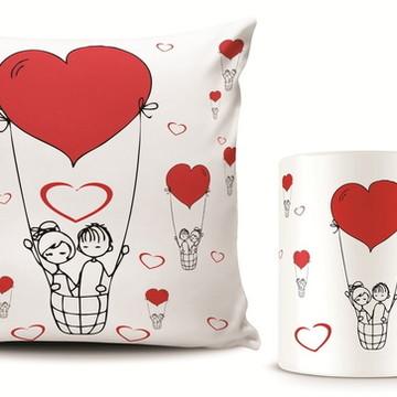 Dia dos Namorados Kit Almofada e Caneca