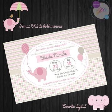 Convite Chá de bebê Menina