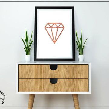 Poster Escandinavo Diamante - A3