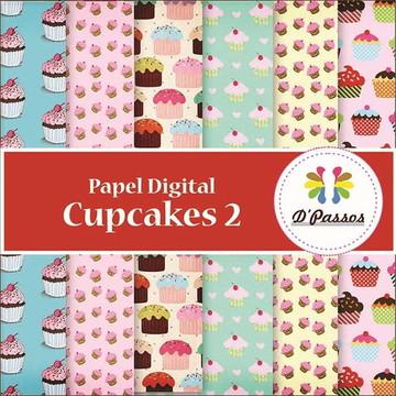 Kit -06 Papeis Digitais- Cupcake 2