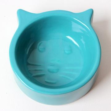 Comedouro de gato - Azul turquesa