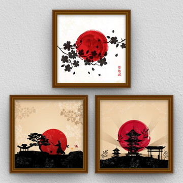 Conjunto de quadros: Japão.