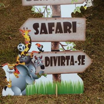 Placa Bem vindos - Safari mdf