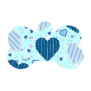 Ossinho Corações em Azul