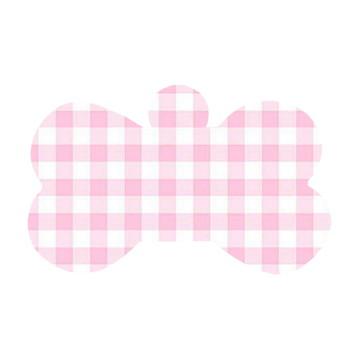 Ossinho Quadriculado Rosa e Branco