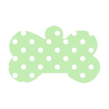 Ossinho Verde com Bolinhas Brancas