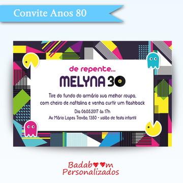 Convite Anos 80 I