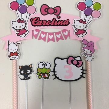 Topo de bolo Hello Kitty