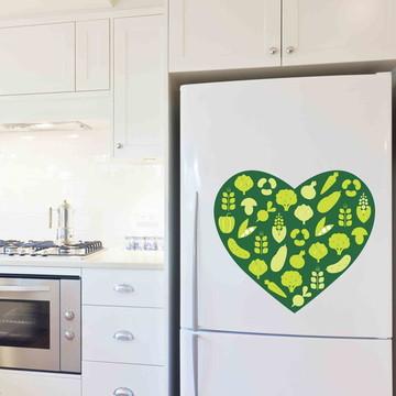Adesivo Coração Verde