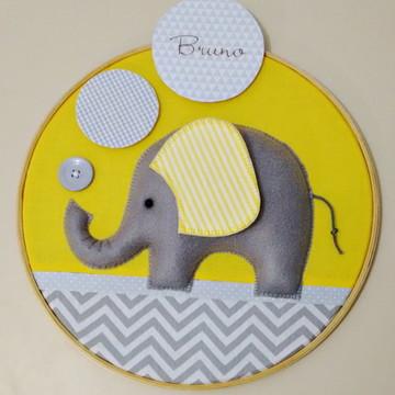 Quadro Porta Maternidade Elefante