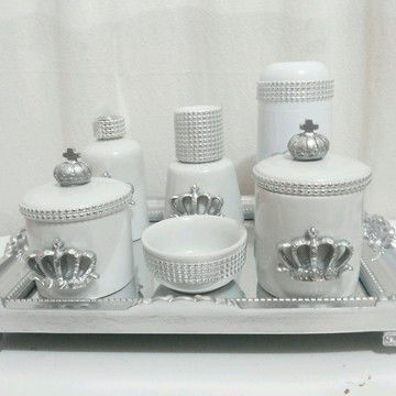 Kit Higiene luxo prata