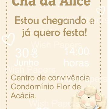 Convite digital Chá de Bebê bege