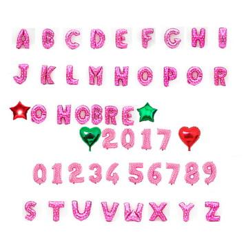 Balão metalizado de letra número rosa