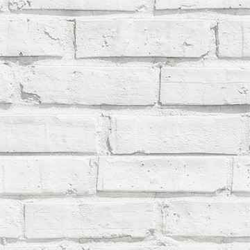 Papel de Parede Pedra Tijolo Branco