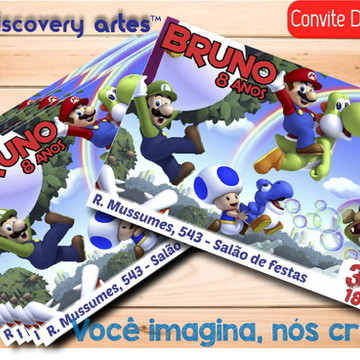 Convite Digital Mario Bross