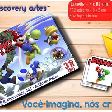 Convite Mario Bross