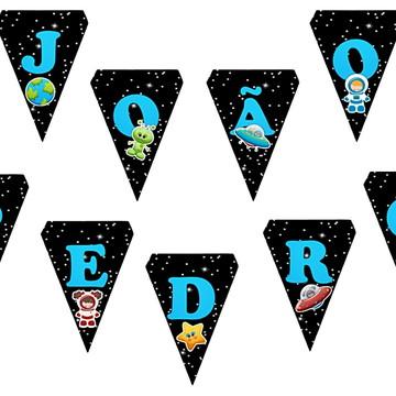 Bandeirola Varal Astronauta Decoracao Festa Aniversario