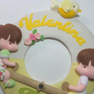 Enfeite de Porta Maternidade Gemeos