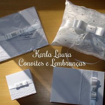 CONVITE DE CASAMENTO COM RENDA LARGA