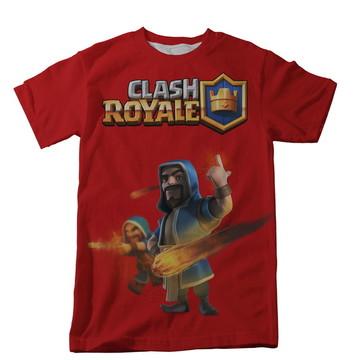 Camiseta Clash Royale Vermelha