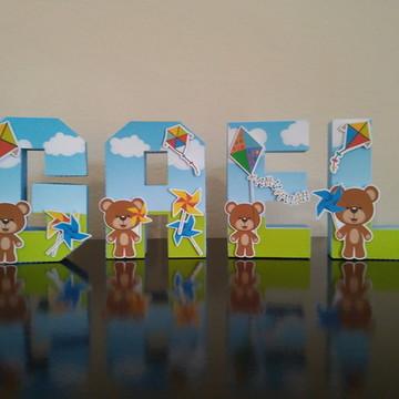 Letra 3D pipa catavento