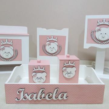 Kit Higiene Ursa Princesa Aplique