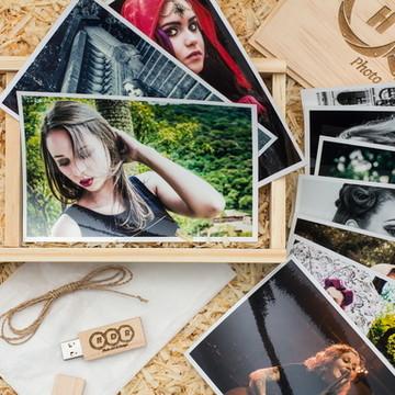 Estojo de Madeira Personalizado para Fotos 20x25